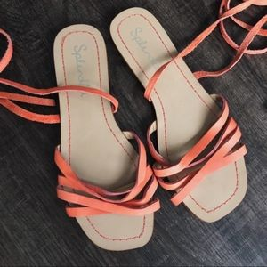 Splendid Lace Up Leather Sandals Size 8